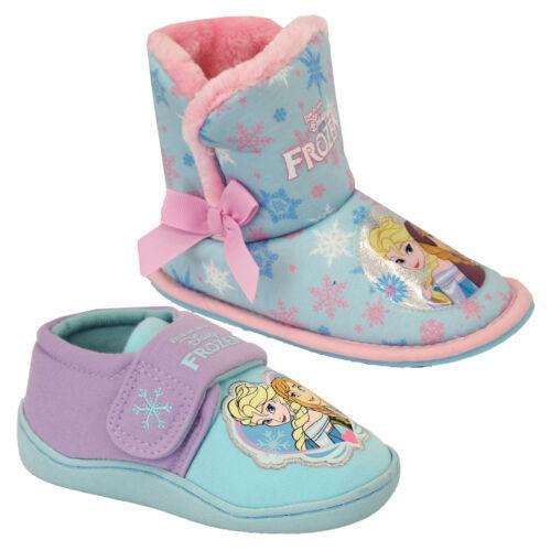 Girls Disney Shoes Frozen Snowflake Kids ANNA ELSA Slippers Casual Ankle Ski Fur