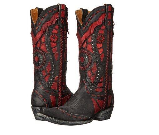 acquista online Old Gringo RARAMES VINTAGE nero rosso Cowboy Western Western Western Leather stivali 7 donna  prodotto di qualità
