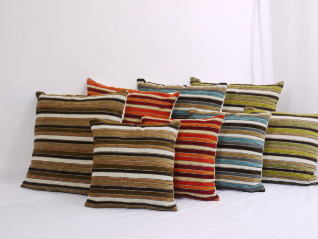 Moroccan Stripe Jacquard Large  22in x 22in  Small17in x 17in   Cushion Cover