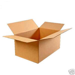 50 Faltkartons 350 x 250 x 250 mm 2-wellig Karton EB 610 g Braun Verpackung NEU