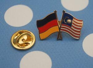 Freundschaftspin-Deutschland-Malaysia-Pin-Button-Badge-Anstecker-Anstecknadel-AS