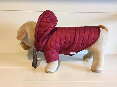 RICHY PUCCI QUALITY DESIGNER QUILTED DOG JACKETS COLOURS BLACK /& RED WITH HOOD