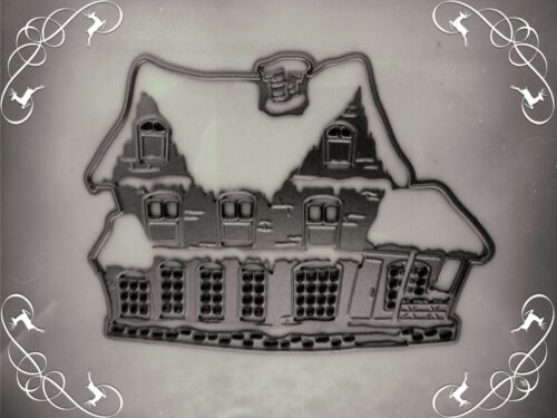 Beautiful Christmas House Cutting Die Stencil,Snow,Craft,Card Making,Xmas,Window