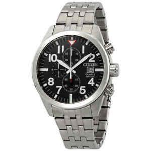 Citizen-Chronograph-Black-Dial-Men-039-s-Watch-AN3620-51E