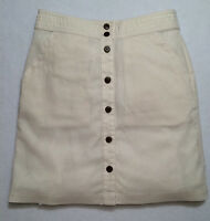 Patagonia W's 58620 Summertime Skirt Sz 8 Off White Button Front $59.00