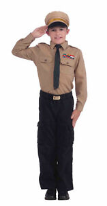 Instant-Army-General-Kit-Uniform-Halloween-Military-Costume-Accessories-Child