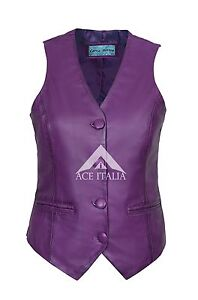 Party Waistcoat Napa 100 Real Ladies Fashion Leather 5701 Deluxe Purple Casual 7qAOS4