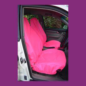 Front Pair Car Van Pink Waterproof LARGE Universal Airbag Compatible Seat Covers