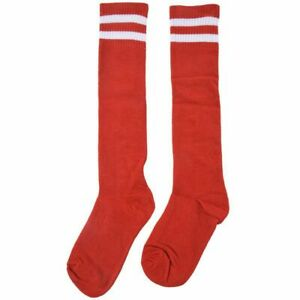 Kinder-Sport-Fussball-Lange-Socken-Hohe-Socken-Baseball-Hockey-Struempfe-rot-OE