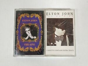 Lot-of-2-Elton-John-Cassette-Tapes-The-One-amp-Ice-On-Fire