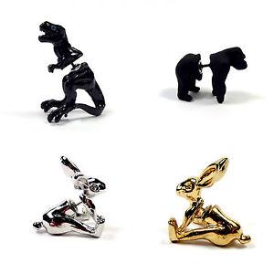 Stud-Earrings-Punk-3D-Animal-Jewellery-Crystal-Pierced-Ear-Cuff-Party