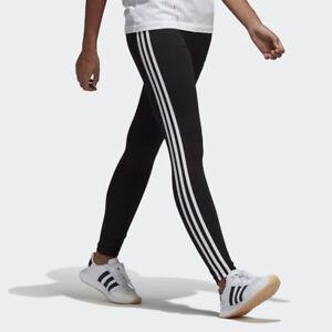 NEW-WOMEN-039-S-ADIDAS-ORIGINALS-3-STRIPES-LEGGINGS-CE2441-BLACK-WHITE