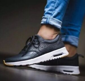 Details about WOMENS NIKE AIR MAX THEA PREMIUM UK SIZE 5 BLACKWHITE (616723 017) LEATHER