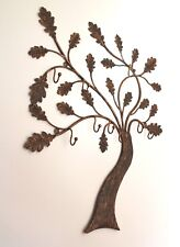 Wandgarderobe, garderobe BAUM - kunstschmiede. Handmade coat rack. Little oak.