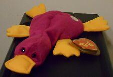 Ty Beanie Baby - PATTI the Platypus (Dark / Fushia) (BBOC Exclusive) MWMTs ~RARE