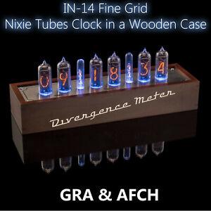 IN-14-Grille-bien-vintage-tubes-Nixie-Horloge-USB-divergence-Compteur-GRA-amp-AFCH
