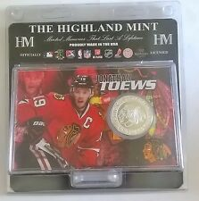 Jonathan Toews Chicago Blackhawks NHL Silver Coin Acrylic Display Stand