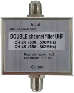 UHF-channel-pass-filter-Double-or-single-filter-VHF-or-UHF-to-order