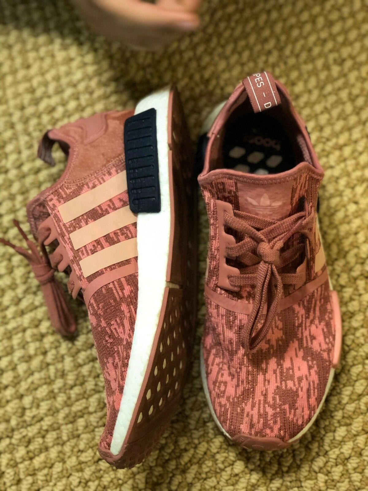 NWT And Box Adidas NMD_R1 W Running Sneaker - Raw Pink Trace Legend Ink size 11