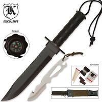 Mia: Assumed Dead Black Survival Knife W/ Kit