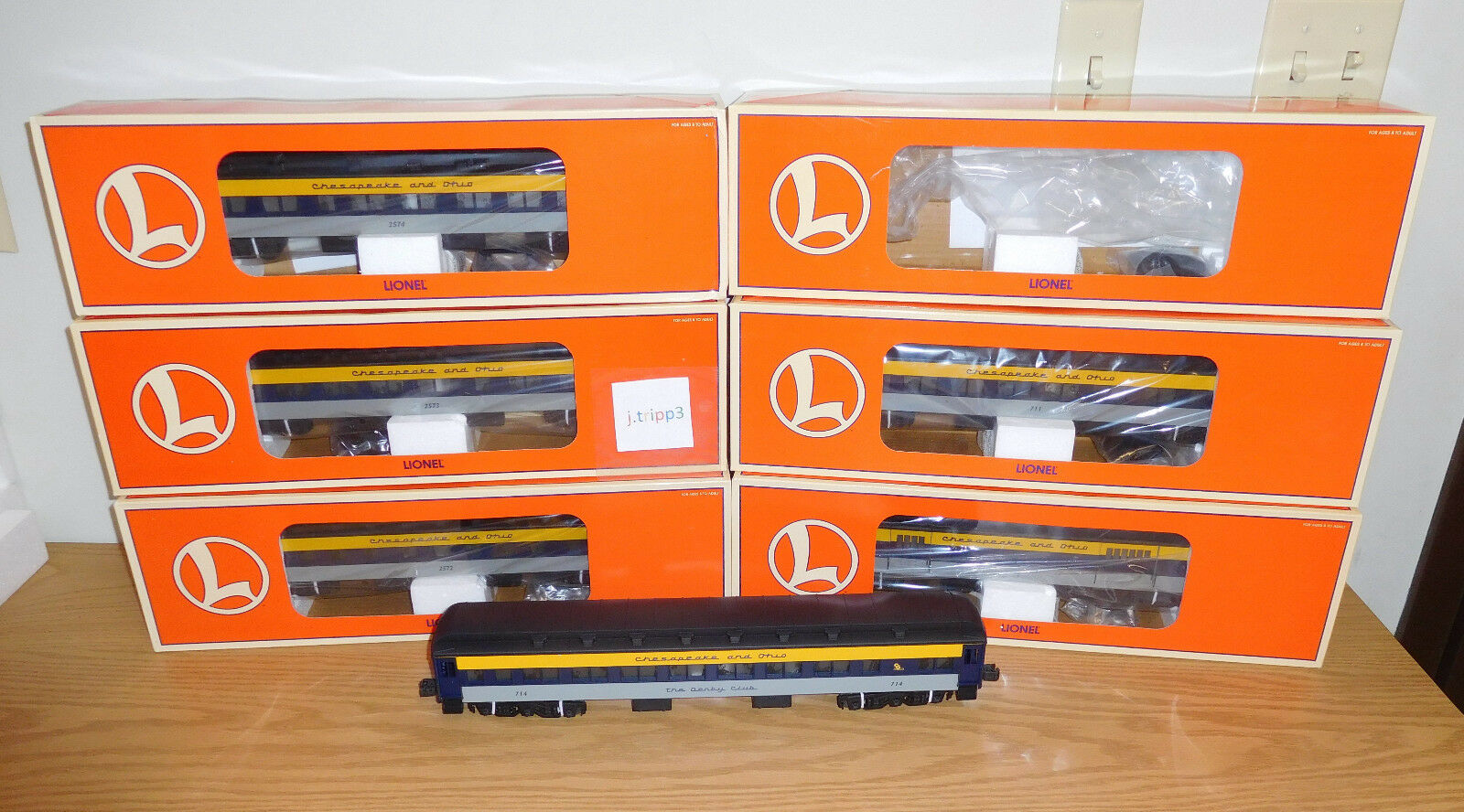 LIONEL CHESAPEAKE OHIO 18'' HEAVYWEIGHT PASSENGER 6 CAR SET O SCALE