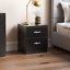 thumbnail 30 - Riano Hulio 1 2 3 Bedside Cabinet Chest Wood High Gloss Bedroom Storage Unit