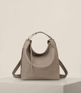 7b4223513f Image is loading NWT-ALL-SAINTS-ALLSAINTS-KITA-LEATHER-BACKPACK-TAUPE-