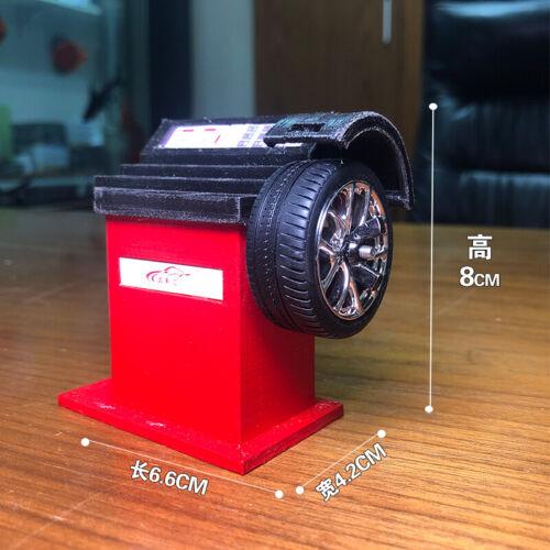 balancer air compressor alloy model 1//18 DYI car repair scene car tires