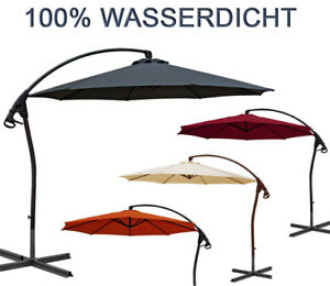 ampelschirm luxus wasserdicht durch pvc schirm 3m sonnenschirm gartenschirm neu ebay. Black Bedroom Furniture Sets. Home Design Ideas