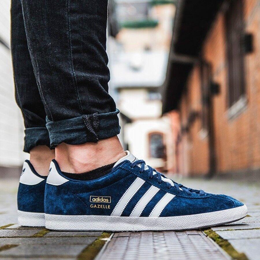 bcd0aba0e45f2 Og Bleu New Gazelle Chaussures Adidas Suede Homme Jeans fT45HWwq