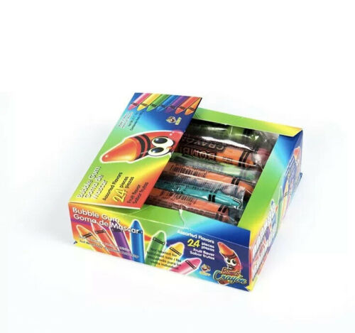 Tiktok Crayon Gum Popular Trend  Candy Mexican Bombi 24 Individually Sealed