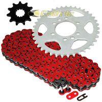 Red O-ring Drive Chain & Sprockets Kit Fits Suzuki Lt160e Quadrunner 160 1989-92
