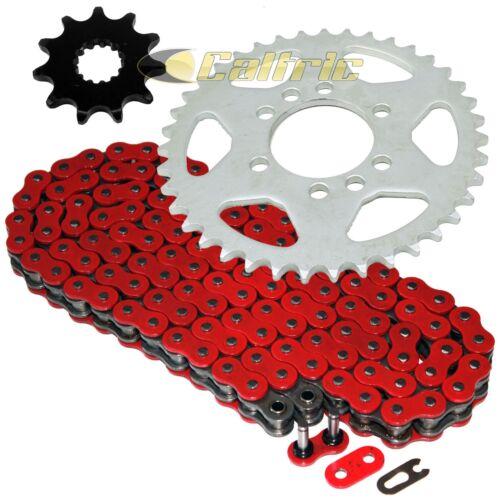 Red O-Ring Drive Chain /& Sprockets Kit Fits SUZUKI LT160E QuadRunner 160 1989-92