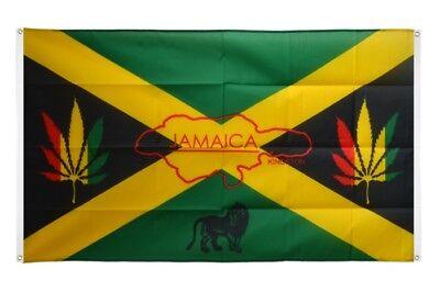 BALKONFLAGGE BALKONFAHNE Jamaika Flagge Fahne für den BALKON 90x150cm