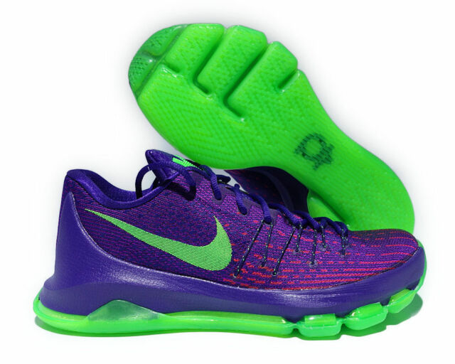 separation shoes 2f9bb 52f64 Nike KD 8 Low Mens Basketball Shoes 11 Court Purple Green Strike 749375 535
