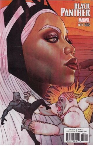 2017 HOT Black Panther #17 Jenny Frison Variant Cover Marvel Comics