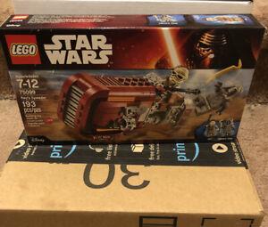 New /& Factory Sealed NIB Rey/'s Speeder Building Set 75099 LEGO Star Wars