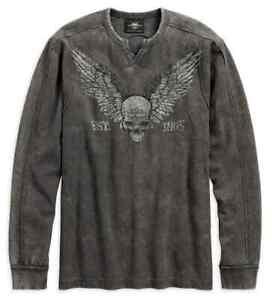 96579-19VM. Harley-Davidson® Men/'s Winged Skull Shirt