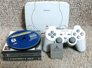 Playstation-ps1-PAL-Bundle-offizieller-Controller-amp-Memory-Card-w-Kabel-amp-Spiele