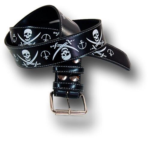 SAILOR Skull ANCHOR Pirat Totenkopf Anker Belt GÜRTEL Rockabilly