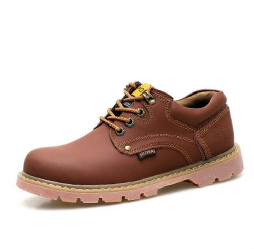 Homme en Cuir à Lacets Bout Rond Low Top semelles épaisses Fashion Casual Shoes Hot A1022