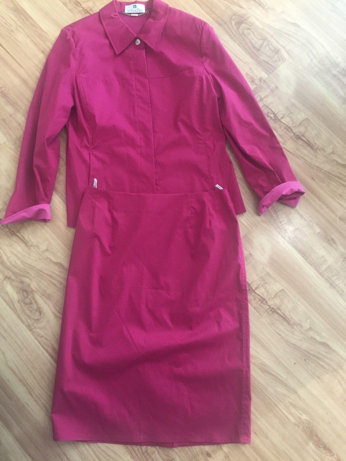 GIVENCHY  da donna vintage stretchkostüm-GR 42-colore Fuxia-COTONE Poliammide