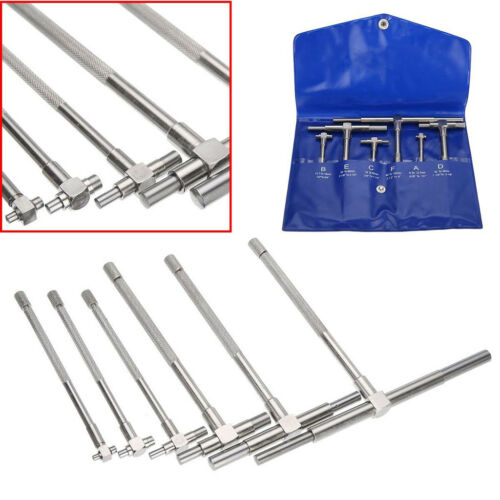 """6/"""" Stainless Steel Telescoping T Bore Gauge Set Hole Precision Gage 5//16/"""""""