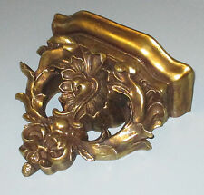 Wandkonsole Ablage Barock Jugendstil Gold Holz Optik Wandregal Konsole Antik 29