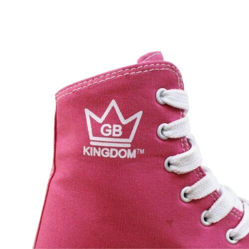 NEW KINGDOM HI-PE CANVAS QUAD ROLLER SKATES RRP £35 SIZE 13-8 UK