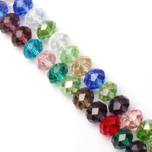 94-100 piezas 4 X 6 mm mix colores Cristal Facetado Ábaco Multicolor granos flojos