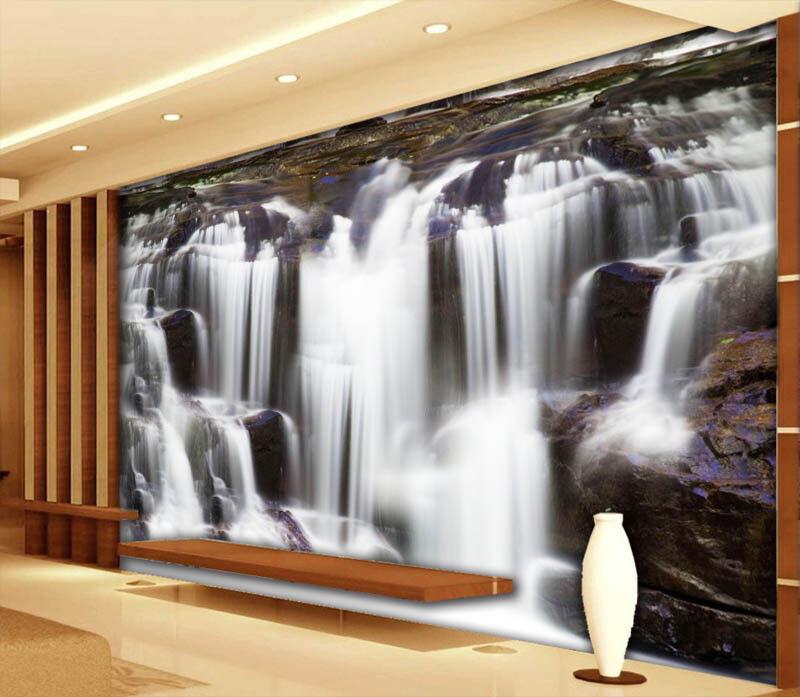 Lofty Waterfall 3D Full Wall Mural Photo Wallpaper Printing Home Kids Decoration