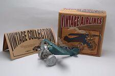 ENESCO Vintage Lucky Boy Cast Iron C1930s Fighter Airplane #345512 US Seller NIB