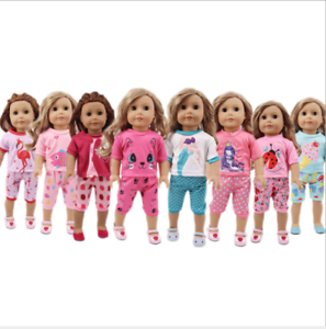 """Hot Handmade Accessories Fits 18/"""" Inch American Girl Doll Clothes Pajama set"""