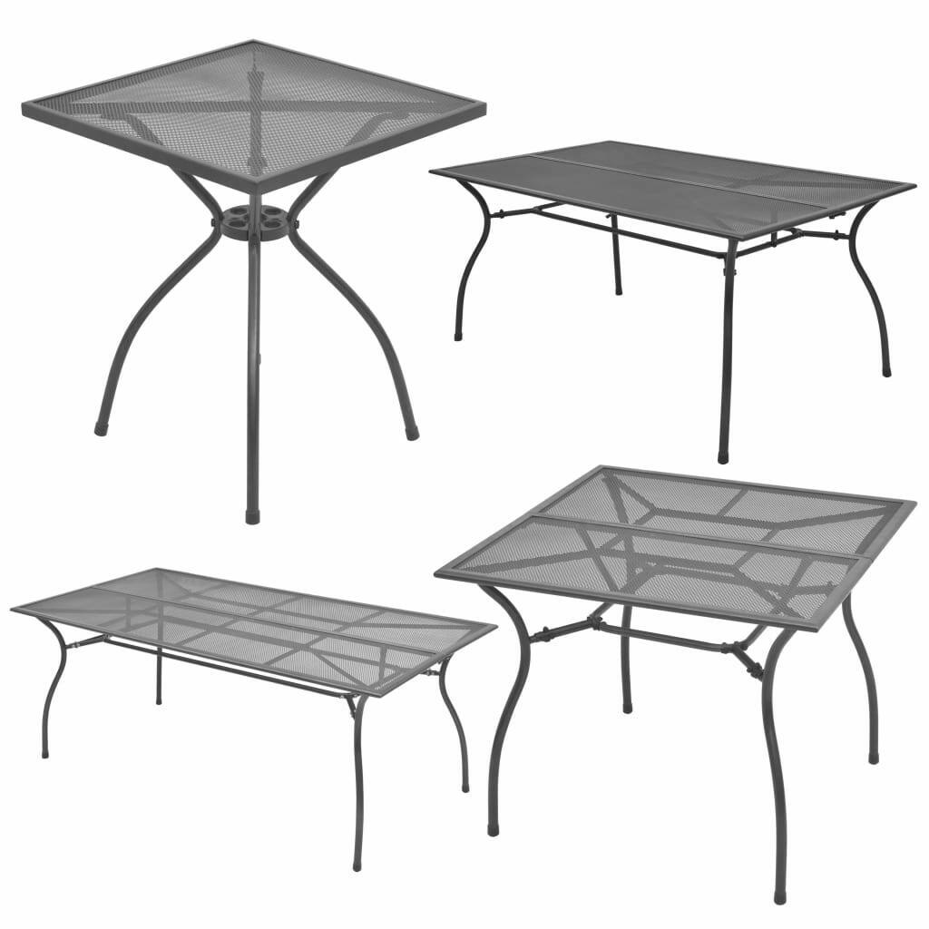 Vidaxl Outdoor Dining Table Steel Mesh
